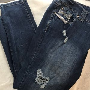 Amethyst distressed jeans plus size 24